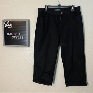 EUC Ralph Lauren Black Capris Size 12